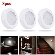 3x 6 LED Motion Sensor Light In/Outdoor Wall Stair Shed Lamp Battery Stick on UK