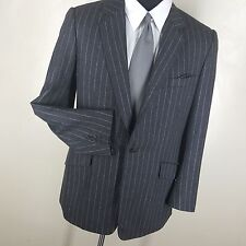 KILGOUR SAVILE ROW LONDON GRAY PINSTRIPE -ONE BUTTON- SPORT COAT SIDE VENTS 42L
