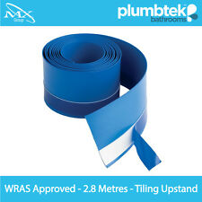 MX 2.8m Flexi Seal Strip - Waterproof Tape for Shower Tray & Bath Blue Upstand