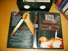 Vhs *GUARDIAN OF THE ABYSS:THE CARPATHIAN EAGLE* RARE Hammer Horror Dual Feature