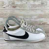 Nike Cortez Youth Size 6 White Black Classic Leather Casual Fashion Sneakers