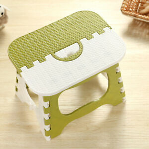 Folding Step Stool - Lightweight 8 Inch Step Stool is Sturdy Enough to Support