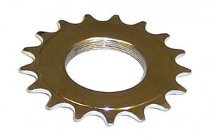 Fixed Gear Threaded Plated Steel Cog Sprocket - 1/8 or 3/32 12t - 20t  FIXIE