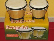 Hochwertiges  Bongo Set` Massivholz /Naturfell``6 + 7 Zoll ``Neu  Originalkarton