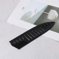 Black Plastic Kitchen Knife Blade Protector Sheath Cover for 8 Inches Knife ^D