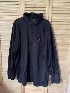 Drake Waterfowl Solid Black  Fleece 1/4 Zip Pullover Jacket Size 2X