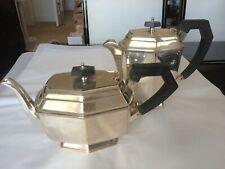 Silver plated Art Deco angular teapot & coffee pot
