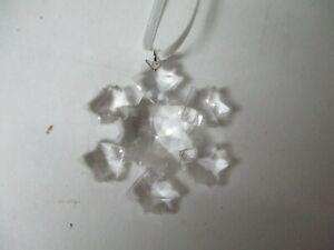 """Tiny 1 3/4"""" Swarovski Crystal Snowflake Star Christmas Ornament #3"""