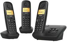 Gigaset A270A Trio Festnetz-Telefon analog intgr. AB, (1x Basis + 2x Mobilteil)