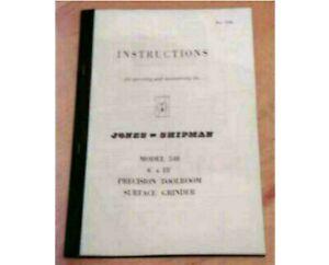 Jones and Shipman 540 Instruction Manual