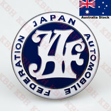 Universal JAF Japan Automotive Federation Emblem Front Grill Mask Badge JDM Blue