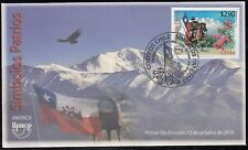 Upaep Chile 1961 2010 Símbolos Patrios bird fauna  SPD FDC Sobre Primer Día