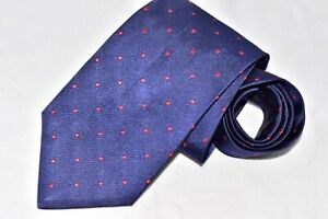 """BROOKS BROTHERS MAKERS DOTS BLUE MEN'S TIE 3 3/4"""" 59"""""""