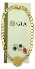 "1914 Ten Dollar Gold Coin Diamond Necklace 14K Yellow White Gold 19"" Inch GIA"