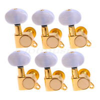 6R Tuning Pegs Tuners Machine Heads For Acoustic Guitar Gold/Black/Chrome