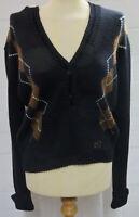 HV Polo Strickpullover mit Kapuze Benson Gr.L schwarz gemustert UVP 82,90€
