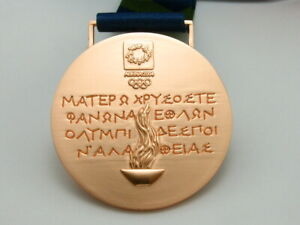 Athens 2004 Olympic Bronze Medal with Ribbon 1:1 Full Size