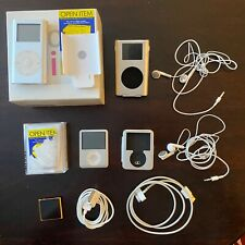 Apple ipad lot - iPod mini, nano & shuffle w packaging & accessories.