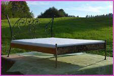 Handgeschmiedetes Doppel Metallbett Aurelia 180 x 200 mit Blende + Rollrost