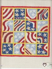 New Hand Painted Needlepoint canvas-  Patriotic Geometric