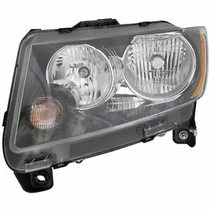 Halogen Headlight Front Lamp for 13-14 Jeep  Compass (Code LMB) Driver Left