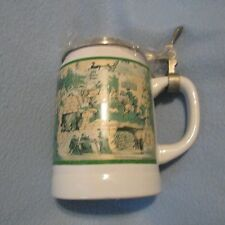 Old Style Lidded Beer Stein 1995 Limited Edition - Medieval Scenes