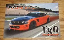 Original 2012 Ford Mustang TKO MRT Performance Sales Sheet Brochure 12