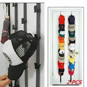 2x Huthalter Rack Baseball Cap Storage Organizer Wandhalterung Türhalter DE