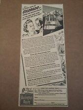 1940 Burlington Route Railroad Ad Colorado