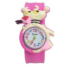 Quality Pink Panther Girls Boys Kids Wrist Watch Animal Easy Strap Slap QTY UK