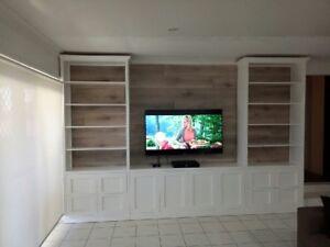 """Bomi-4.0"" Integrated TV Entertainment Wall Unit Bookshelf Living Room Furniture"