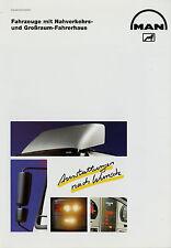Prospekt MAN M F 2000 m. Nahverkehrsfahrerhaus Großraumfahrerhaus 10/98 1998 Lkw