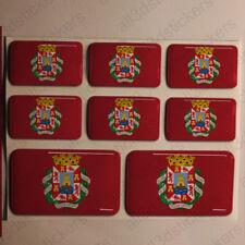 Pegatinas Cartagena España Pegatina Bandera Adhesivo Ciudad 3D Relieve Resina