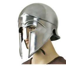 Spartan Greek Corinthian Helmet Costume Armour LARP with Liner Chin Strap Helmet