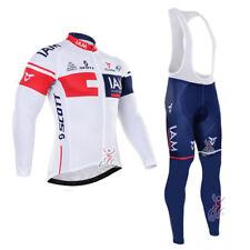 KJU523 New Cycling Winter Thermal Fleece long sleeve jersey Bib Pants Kits Cloth