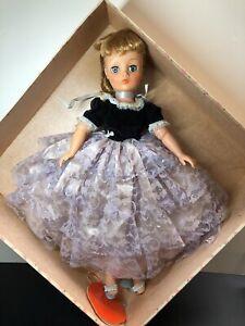 """19"""" Vintage Horsman Cindy Vinyl Bendable Doll Original Lavender Party Dress Box"""