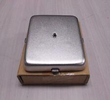 Brushed chrome GTE Quadrum Pay Phone Vault Door -  NOS