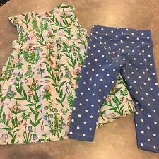 Baby Boden Garden Dress And Leggings Size 18-24 Months