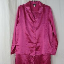 New Fredricks of Hollywood Hot Pink Sleepwear Size L Pajamas Set Pants Shirt Top