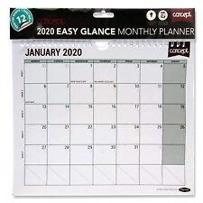 2020 Monthly Planner Calendar Staff Rota Family Organiser Spiral Bound New
