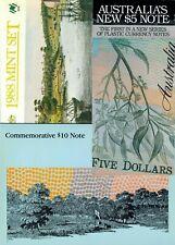 Australia commemorative folders incl. 1st UNC $5 1992 polymer & UNC $10 P49a!