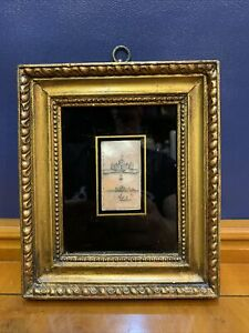 Antique Framed Mother Of Pearl Picture