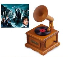WOODEN PHONOGRAPH MUSIC BOX : HARRY POTTER THEME SOUNDTRACK
