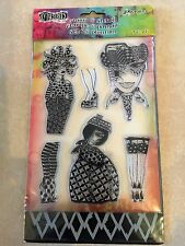 Ranger Dylusions Clear Acrylic Stamp & Stencil BLACK DIAMONDS Set NEW