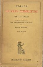 HORACE OEUVRES COMPLETES TOME 1 ODES ET EPODES -GARNIER