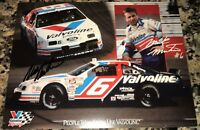 Mark Martin VALVOLINE NASCAR HALL OF FAME ROUSH signed 9x11 1993 FORD #6 photo