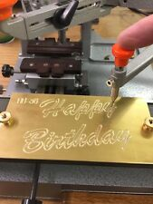 Happy Birthday Script Master Template Brass Engraving New Hermes Font Tray