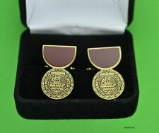 Navy Good Conduct Medal Cuff Links in Presentation Gift Box - Cufflinks
