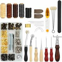 28PCS Leather Craft Hand Stitching Sewing Tool Thread Awl Craft Punch Tools