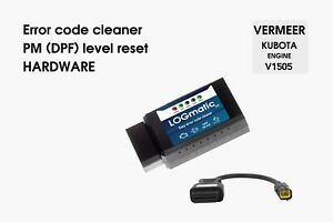 Soot reset and error cleaner hardware for Vermeer / Kubota DPF
